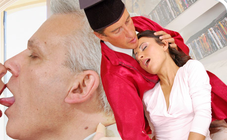 Young women sucking dicks to much older men
