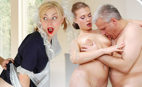 Inspiring scenes of love and sex between ugly old men and beautiful young women